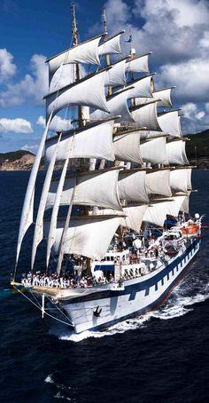 Tall ships crossing the Atlantic to Europe. Sailboat Yacht, Yacht Boat, Bateau Yacht, Transatlantic Cruise, Old Sailing Ships, Sail Away, Tall Ships, Water Crafts, Fishing Boats