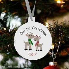 Personalized teacher ornament teacher Christmas gift personalized peace love kindergarten or any gra Pink Christmas Ornaments, Our First Christmas Ornament, Teacher Ornaments, Button Ornaments, Christmas Buttons, Teacher Christmas Gifts, Personalized Ornaments, Personalized Christmas Ornaments, Perfect Christmas Gifts
