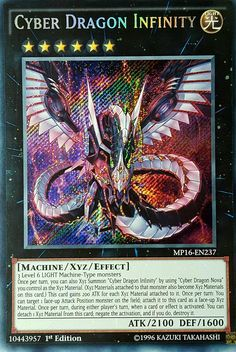 YuGiOh MP16-EN237 CYBER DRAGON INFINITY Secret Rare 1st Mint Mega 16 & bonus
