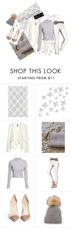 """""""White Winter Denim: Creme de la Creme"""" by e-dphillips ❤ liked on Polyvore featuring Dot & Bo, H&M, Lee Cooper, Gianvito Rossi, women's clothing, women's fashion, women, female, woman and misses"""