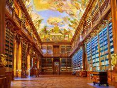 Biblioteca Strahov, em Praga (Foto: Divulgação)