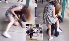 Teenage girl beats up a boy at California high school: Video