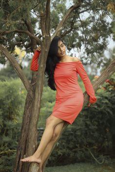 zaful orange dress