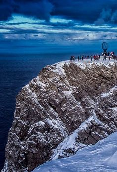The famous ball of the Nordkapp, Northern Cape, Norway Northern Lights Norway, See The Northern Lights, Lofoten, Norway Beach, Norway Viking, Norway Fjords, Beautiful Norway, Visit Norway, Norway Travel