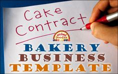 This post is for all the professional bakers and freelance cake artists out there who want to know how to draw up a cake contract