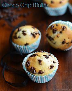 CHOCOLATE CHIP MUFFINS RECIPE (EGGLESS) | Rak's Kitchen
