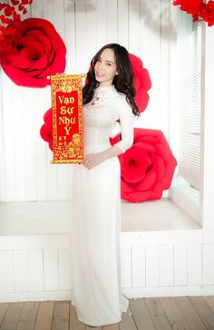 Ao Dai, White Girls, Dresses, The Voice, Vestidos, White Chicks, Dress, Gown, Outfits