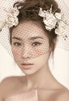 Soft, natural wedding makeup - more blended out blush, deeper pink lips may suit me better