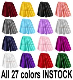 REDWomen Lady Satin Shiny Mini Skirt Pleated Retro High Waist Club S~3XL
