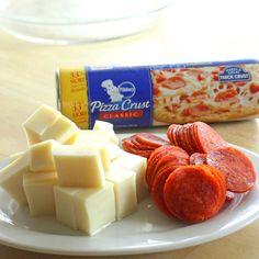 Stuffed pepperoni pizza rolls...easy peasy;)