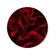 cloth079 stickers RICH RED SATIIN