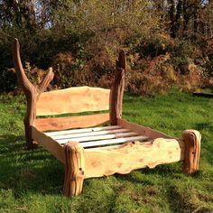 rustic oak bed - Google Search