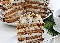Торт-безе с грецкими орехами image 1 Polish Desserts, Polish Recipes, Cookie Desserts, Sweet Recipes, Cake Recipes, Dessert Recipes, Russian Desserts, Cake Business, My Dessert