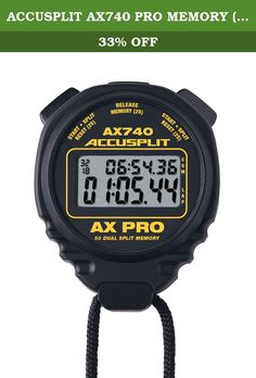"""ACCUSPLIT AX740 PRO MEMORY (50) DUAL LINE STOPWATCH. Product Functions The AX740 Pro Memory series of Stopwatches in our Exclusive, Professional """"X"""" Case. • It works on the ACCUSPLIT Exclusive AOS 4.5 Operating system • Twin Left-Right button operation will let you start, split and reset using the fingers you want. • 50 Memory Dual Split (Cumulative/Lap) • Memory recall (LIFO-Last in, first out) • Recall and take splits during operation • 1, 2 Fast Finish • 1-Button Rapid Split and Fail…"""