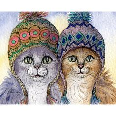 The knitwear sisters - knitting was thicker than blood in the knitwear sisters' case. Tabby cats 8x10 print