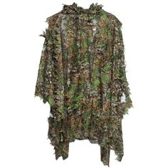Buy Camo Bionic Leaf Camouflage Jungle Hunting Ghillie Suit Set Woodland Sniper Birdwatching Poncho Manteau - Camouflage Color - and More Hunting Wear up to off. Camo Suit, Camouflage Suit, Hunting Camouflage, Camouflage Colors, Camouflage Clothing, Hunting Suit, Hunting Clothes, Hunting Gear, Sniper Suit