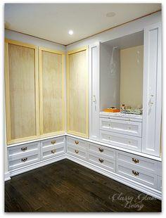 DIY Custom Dressing Room Walk-in Closet   Closet doors installed   Youtube Tutorial   Classy Glam Living