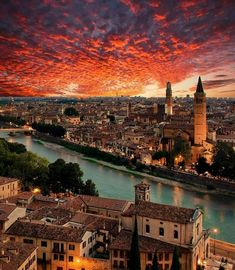 A beautiful sunset in Verona, Italy Photography by . Vacation Trips, Dream Vacations, Places To Travel, Places To See, Wonderful Places, Beautiful Places, Destination Voyage, Toscana, Travel Abroad