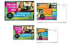 Strength Training Postcard InDesign Template by Postcard Template, Postcard Design, Graphic Design Templates, Graphic Design Print, Take Care Of Your Body, Indesign Templates, Strength Training, Creative Inspiration, Typography