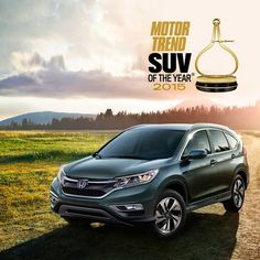 The restyled 2015 #Honda CR-V has been named Motor Trend's 2015 Sport/Utility of the Year®!