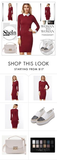 """""""New Shein sponsored contest"""" by mayabee88 ❤ liked on Polyvore featuring Maybelline and Gucci"""