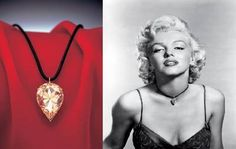 Marilyn Monroe in the Moon of Baroda Necklace which she wore in the film Gentlemen Prefer Blondes