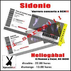 """TÓMATE EL """"VERMÚ"""" CON @SIDONIE EN @HELIOGABALBCN"""