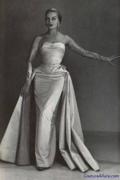 Couture Allure Vintage Fashion: Weekend Eye Candy: Jean Desses Evening Gown, 1952