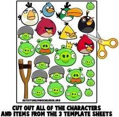 How to Make your own Angry Birds Magnet Set « Animal Crafts Ideas « Kids Crafts & Activities