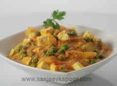 How to make Aloo Matar Paneer - Potatoes, green peas and cottage cheese cooked in onion tomato gravy.