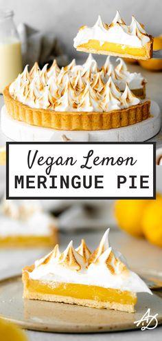 Vegan Lemon Meringue Pie - Epic Vegan Recipes - Addicted to Dates