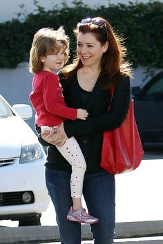 Alyson Hannigan and Daughter Satyana Out And About!