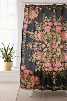 Urban Outfitters Analise Floral Medallion Shower Curtain