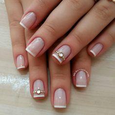 Elegant Nails, Stylish Nails, Trendy Nails, Gold Glitter Nails, Pink Nails, Toe Nails, Bow Nail Designs, Perfect Nails, Nail Trends