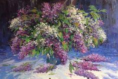 Natale a luglio vendita Armenia albero fiori dipinto ad olio ...