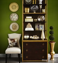 Discover unique decorative ideas for your home. HomeSense has a fine selection of Bed and Bath & Home Décor products at great prices. Find a HomeSense store near you. Green Rooms, Green Walls, Interior Decorating, Interior Design, Basement Decorating, Decorating Ideas, South Shore Decorating, Homesense, Comfort And Joy