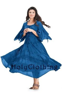 #holyclothing In Blue Divine: http://holyclothing.com/index.php/belladonna-peasant-bustier-empire-waist-gypsy-boho-corset-dress.html