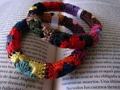 granny square bracelet