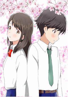 Tsuki ga kirei, anime visual, akane mizuno, kotarou azumi