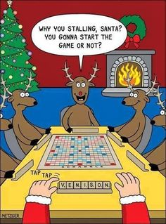 Santa playing reindeer games
