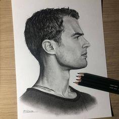"2,728 Me gusta, 26 comentarios - Theo James (@theojamesofficial) en Instagram: ""I'm absolutely blown away by this fan art ! Great work @meikezane_art #theojames"""