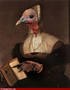 Turkey Reading Book painting- found in a Google Search