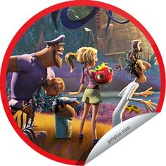 Steffie Doll's Cloudy with a Chance of Meatballs 2 on Yahoo! Movies Sticker   GetGlue