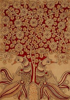 Tree of life symbol spiritual Super Ideas Tree Of Life Painting, Tree Of Life Art, Madhubani Art, Madhubani Painting, Traditional Paintings, Traditional Art, Art Nouveau, Tree Of Life Symbol, Kalamkari Painting