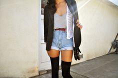 vintage denim high-waisted shorts