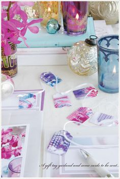 Fresh color inspiration for Christmas decorating & entertaining—brilliant silver • bold aqua • fuchsia pink • pristine white • lovely lavender❣ A Creative Mint