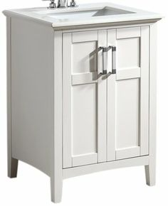 Amazon.com - Simpli Home NL-WINSTON-WH-24-2A 1-Pack Winston Collection Bath Vanity, 24-Inch, White -