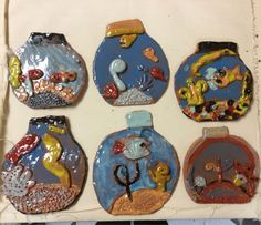 Mrs. Knight's Smartest Artists: Clay slab aquarium/terrariums, 3rd grade