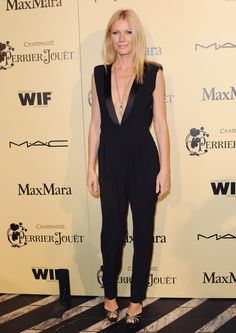 Va-Va-Voom! See the Sexiest Dresses to Hit the Red Carpet in 2012 : Gwyneth Paltrow's Boy by Band of Outsiders ensemble balances a sultrier V-neck with a menswear vibe.