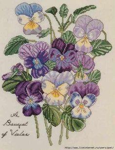 A Bouquet Of Violas --- Pattern:  http://www.liveinternet.ru/users/goel/rubric/2006261/page13.html